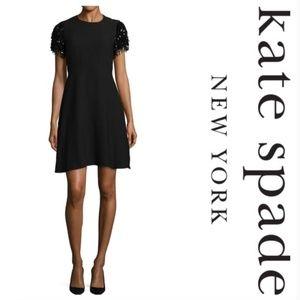 Kate Spade || Black Sequin Fringe Swing Dress